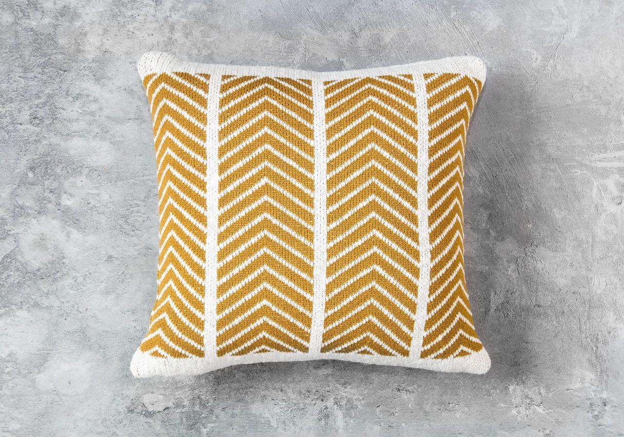 ZIGZAG Mustard Pillow 20 x 20, Top