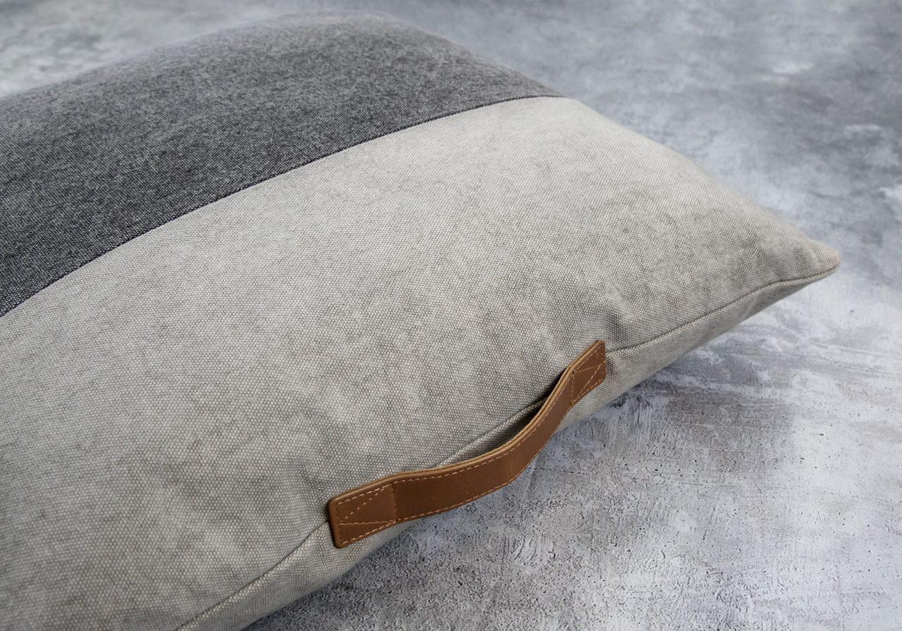 Bloc Strap Pillow 20 x 20, Close Up