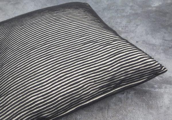 Bricks Grey Pillow 20 x 20, Close Up