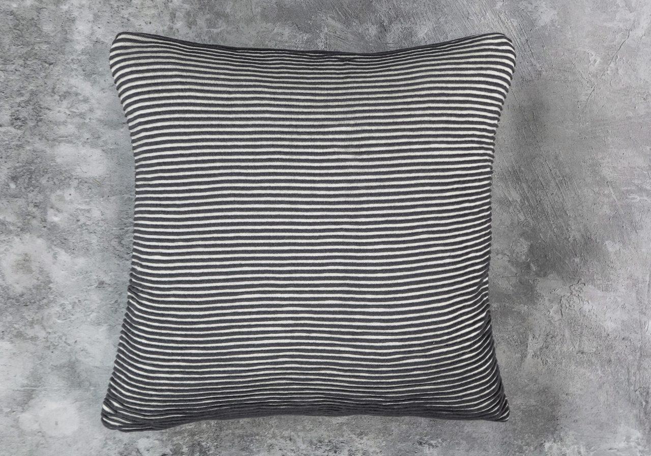 Bricks Grey Pillow 20 x 20, Top