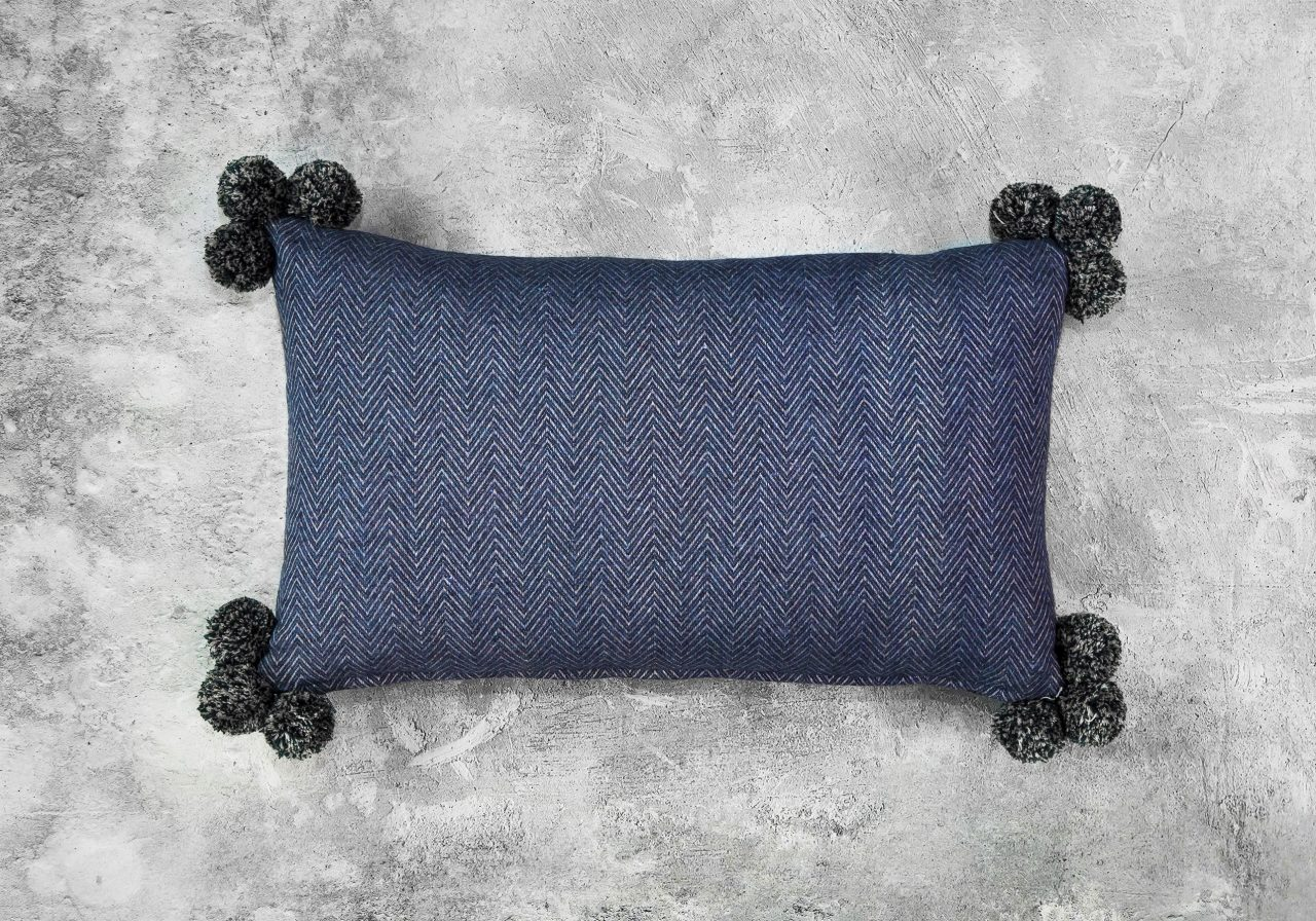Corno Pom Pillow 12 x 20, Top