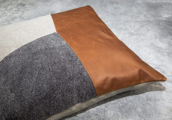 Feltan Leather Pillow 20 x 20, Angle