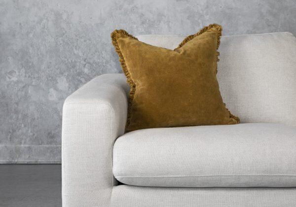 Fringe Ochre Pillow 20 x 20