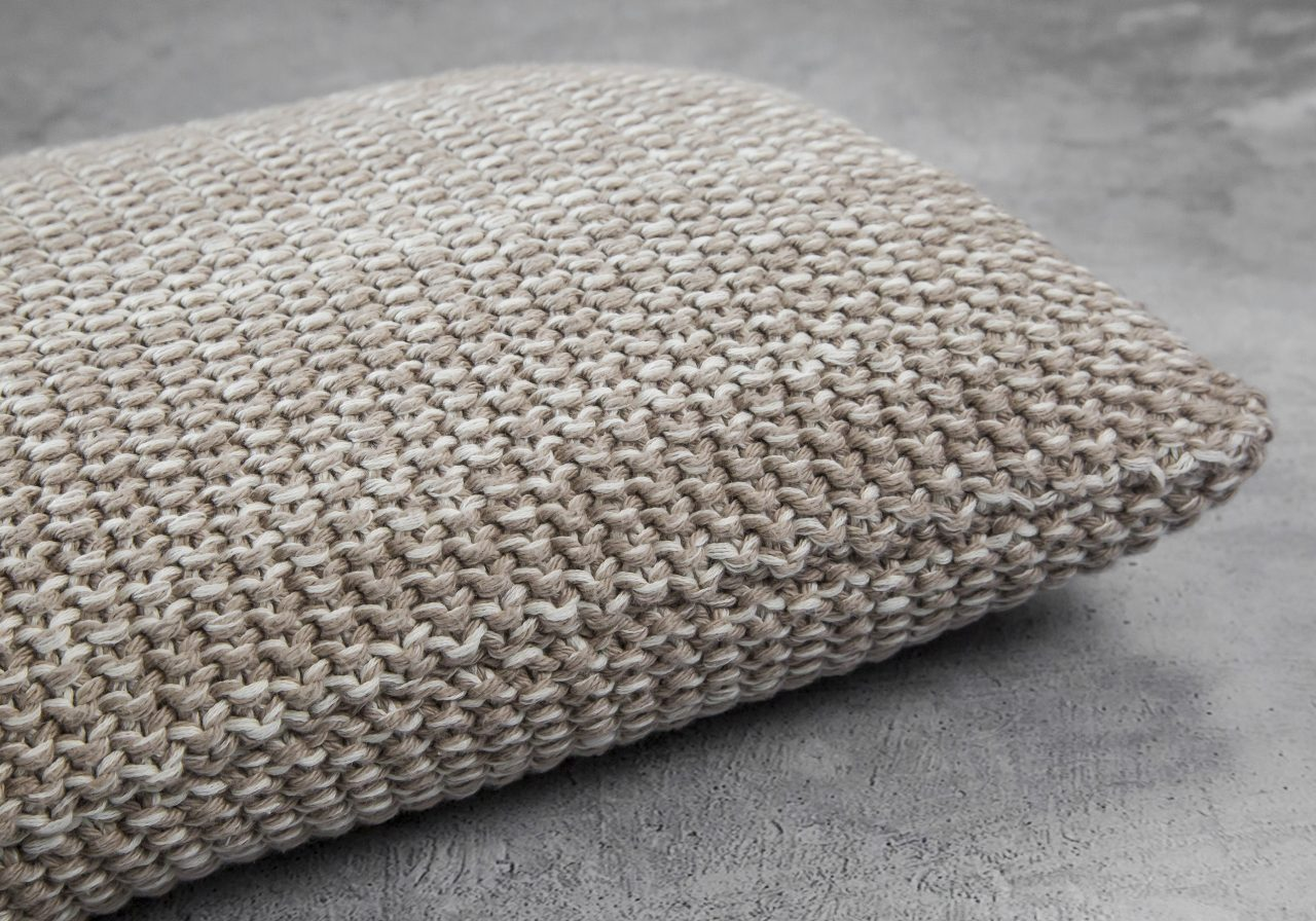 Marl Stone Pillow 12 x 20, Close Up