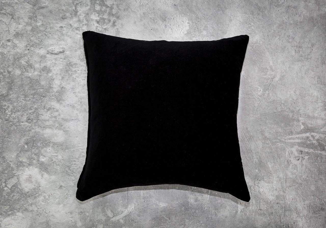 Metallic Black Pillow 20 x20, Back