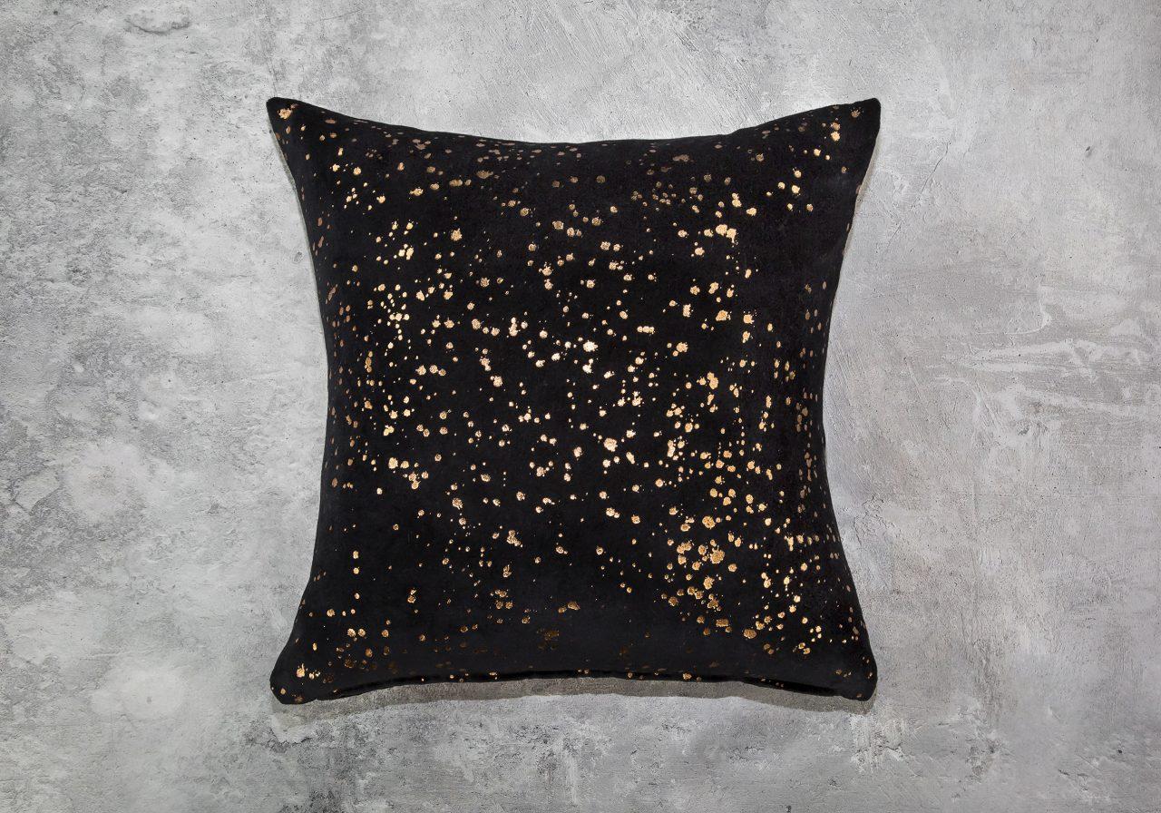 Metallic Black Pillow 20 x20, Top