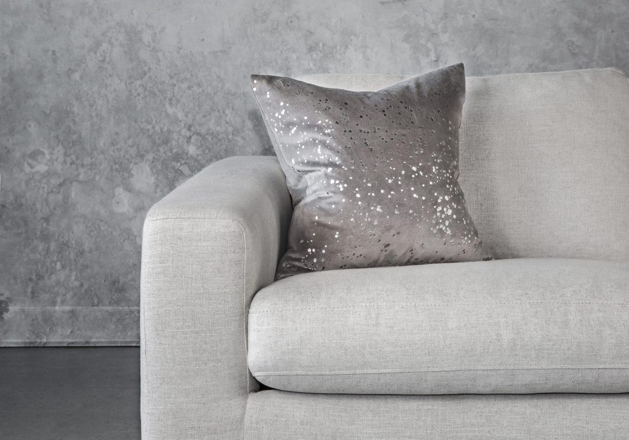 Metallic Grey Pillow 20 x 20, Front