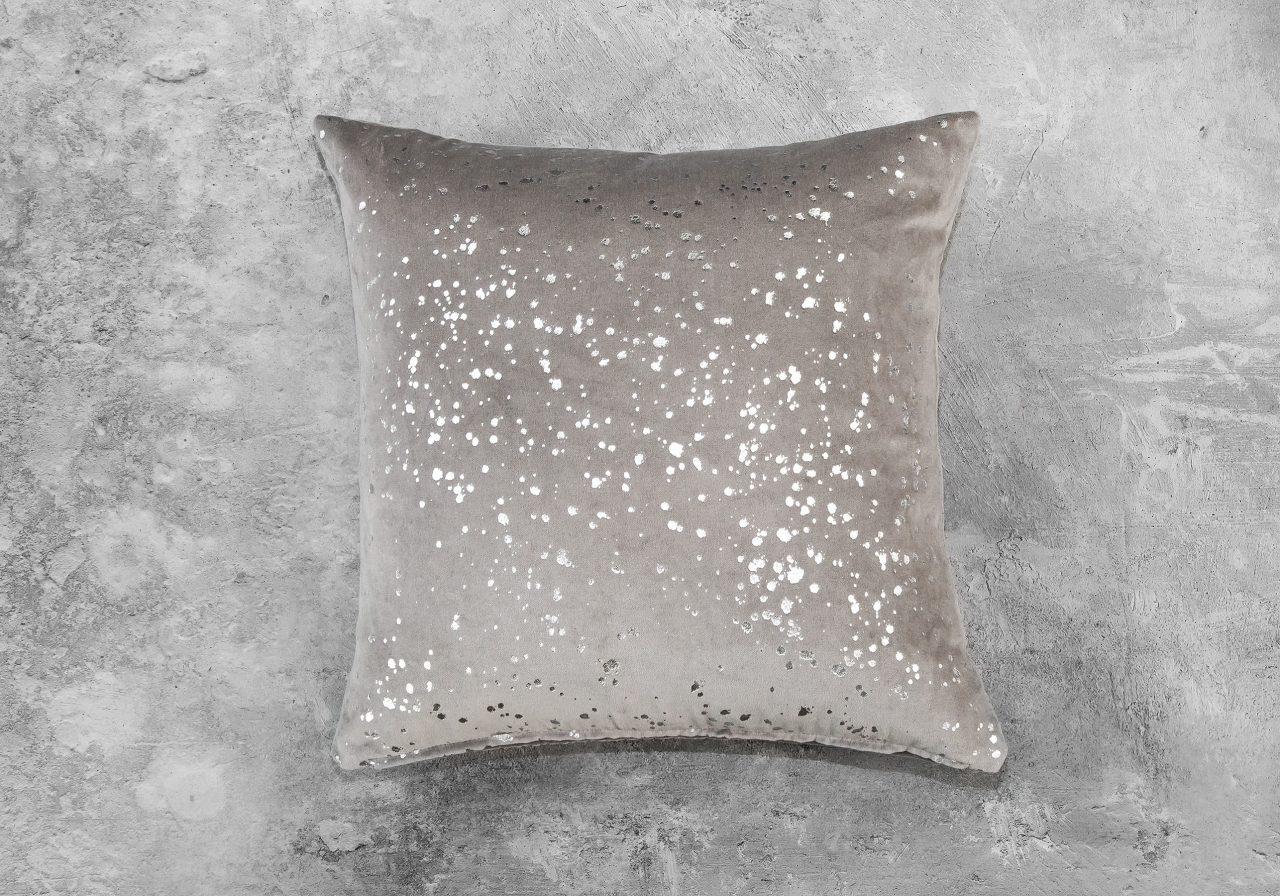 Metallic Grey Pillow 20 x 20, Top