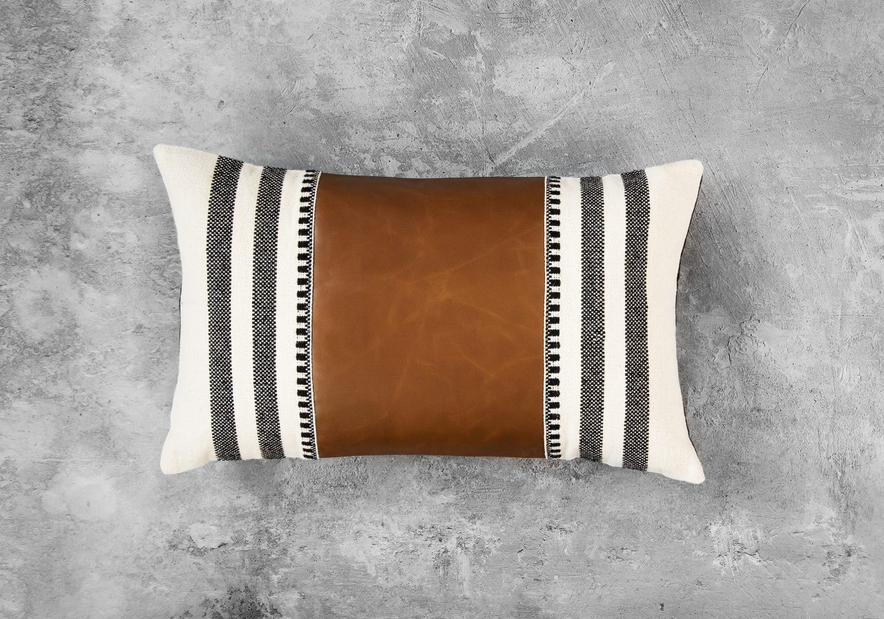 Pround Leather Pillow 12 x 20, Top