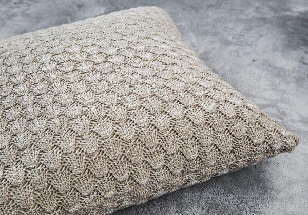 Shells Nat Toss Pillow 20 x 20, Close Up