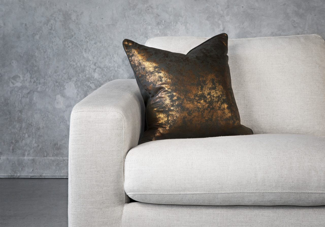 Shimmer Olive Pillow 20 x 20