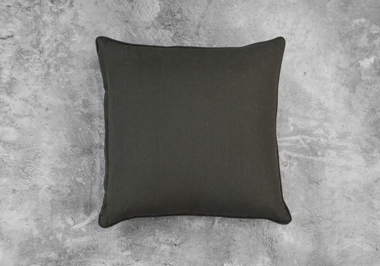Shimmer Olive Pillow 20 x 20, Back