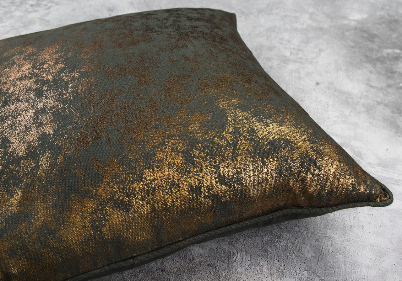 Shimmer Olive Pillow 20 x 20, Close Up