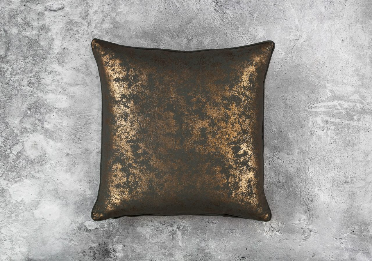 Shimmer Olive Pillow 20 x 20, Top