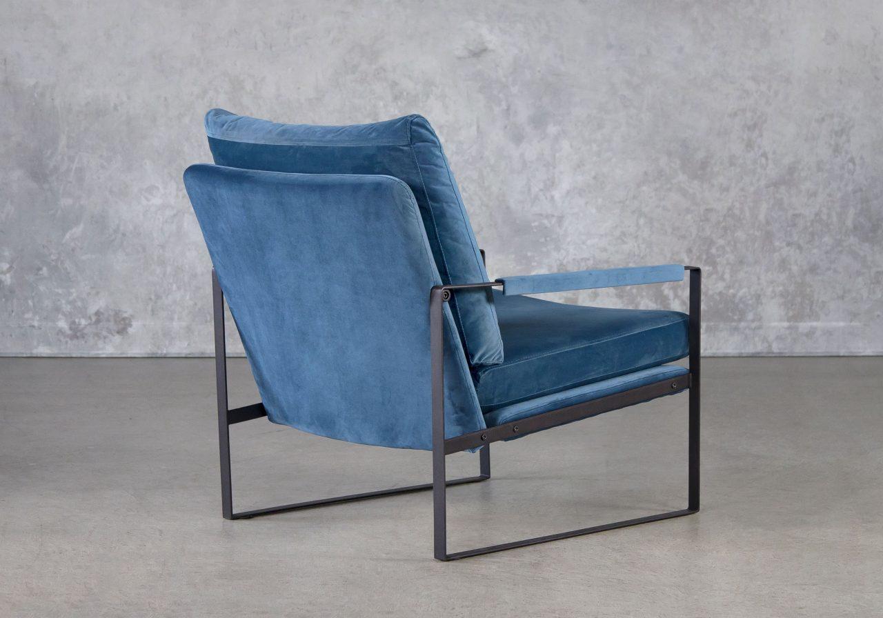 Reggie Chair In Teal Velvet, Back