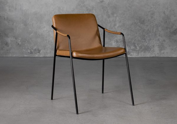 Boto Dining Chair in Light Brown, Angle
