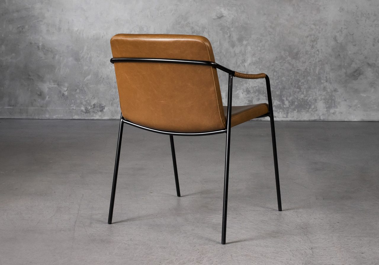 Boto Dining Chair in Light Brown, Back