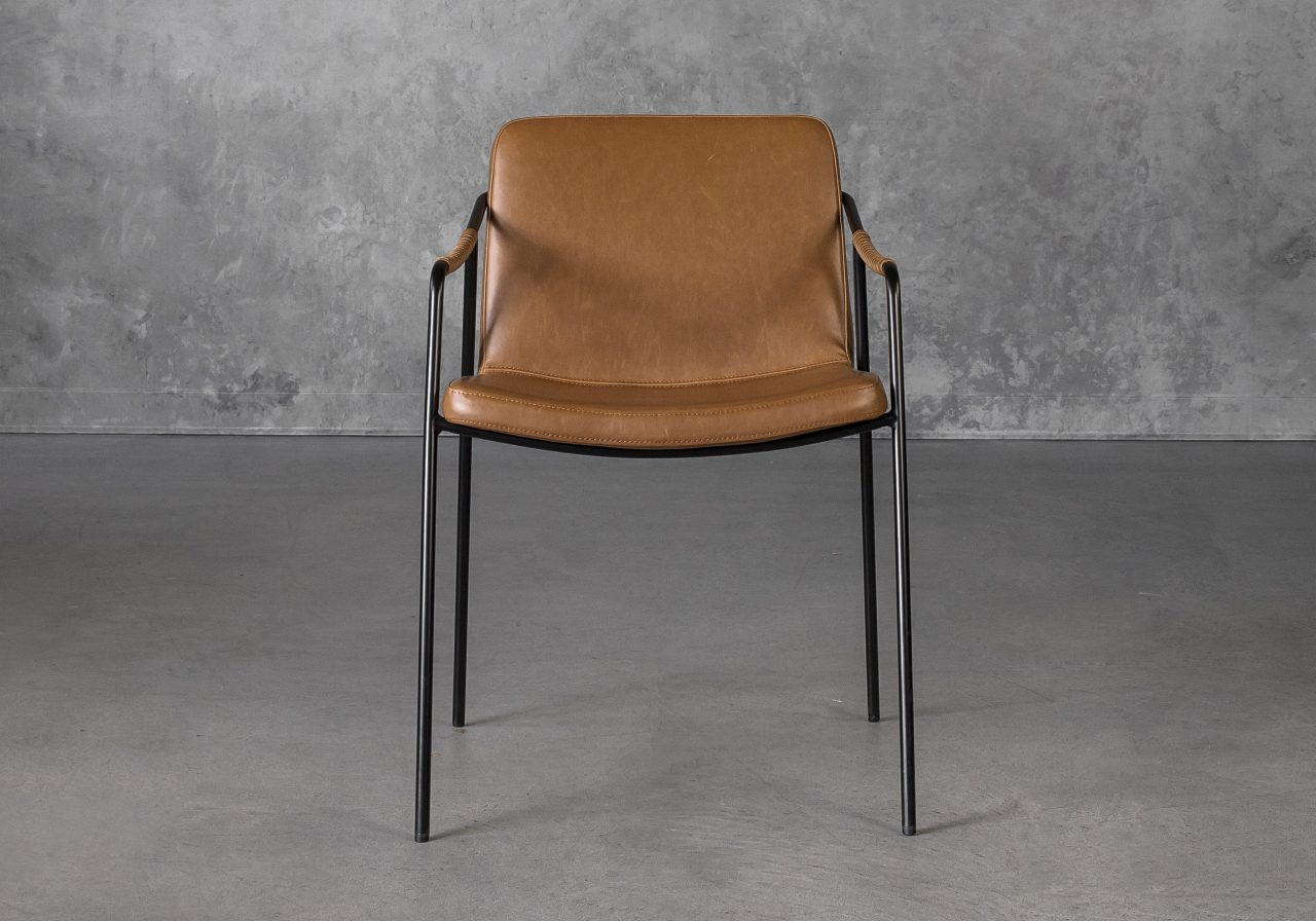 Boto Dining Chair in Light Brown, Front