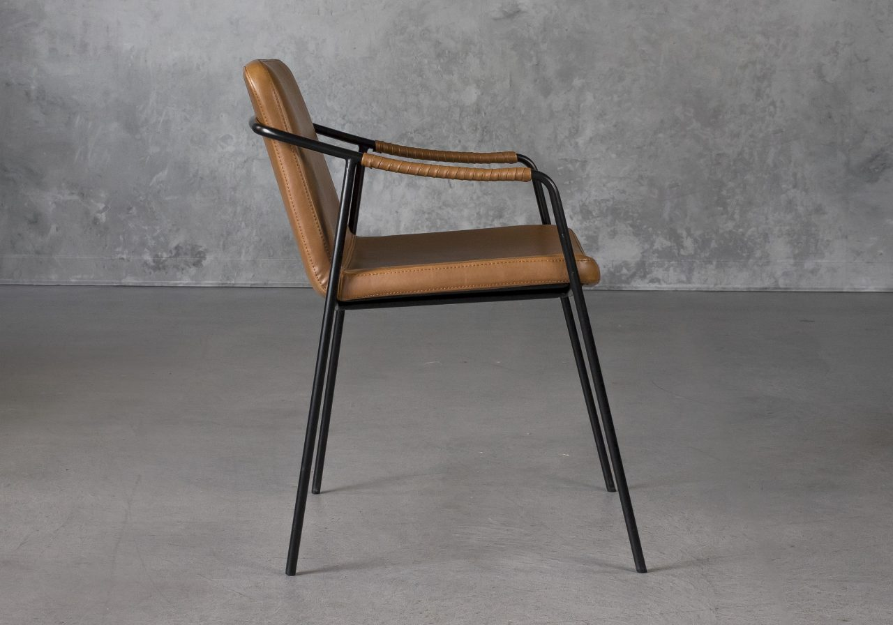 Boto Dining Chair in Light Brown, Side