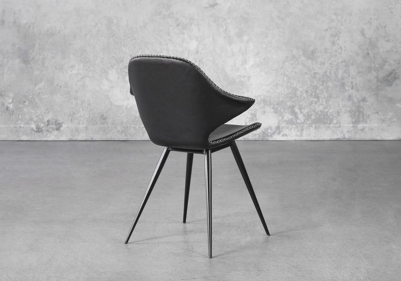 Karma Dining Chair in Black, Back