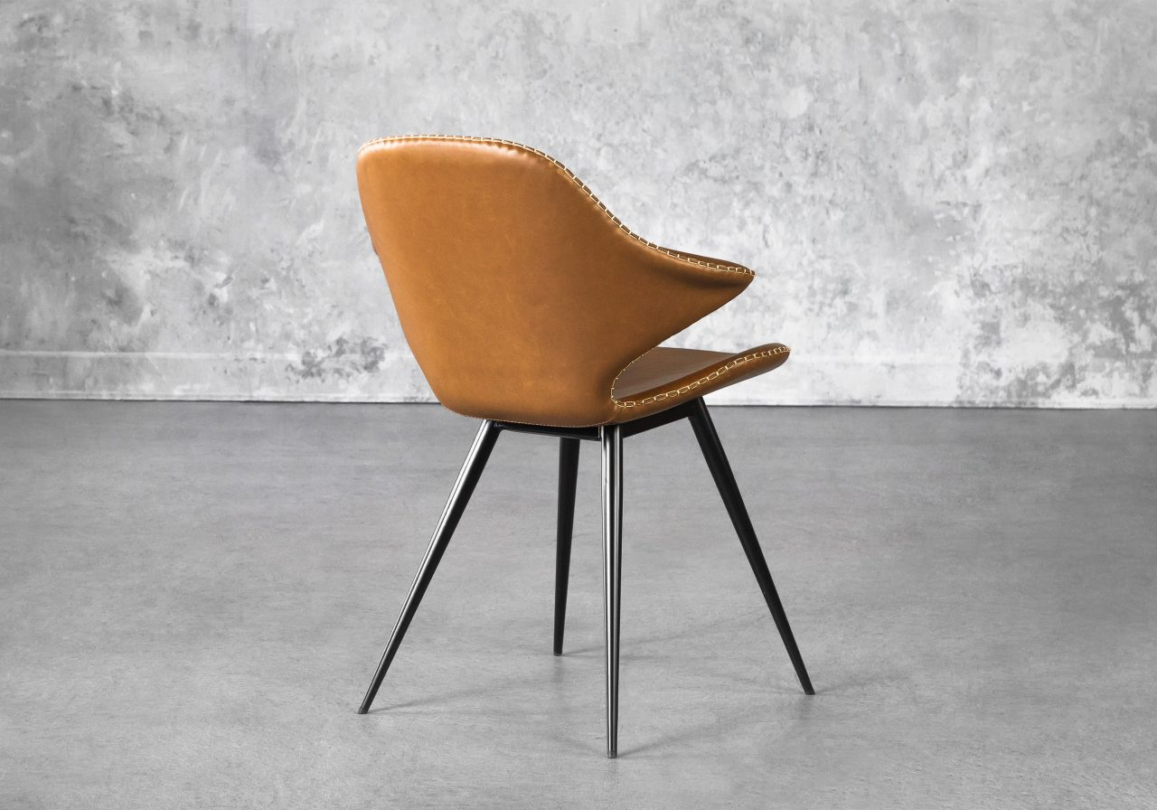 Karma Dining Chair in Light Brown, Back