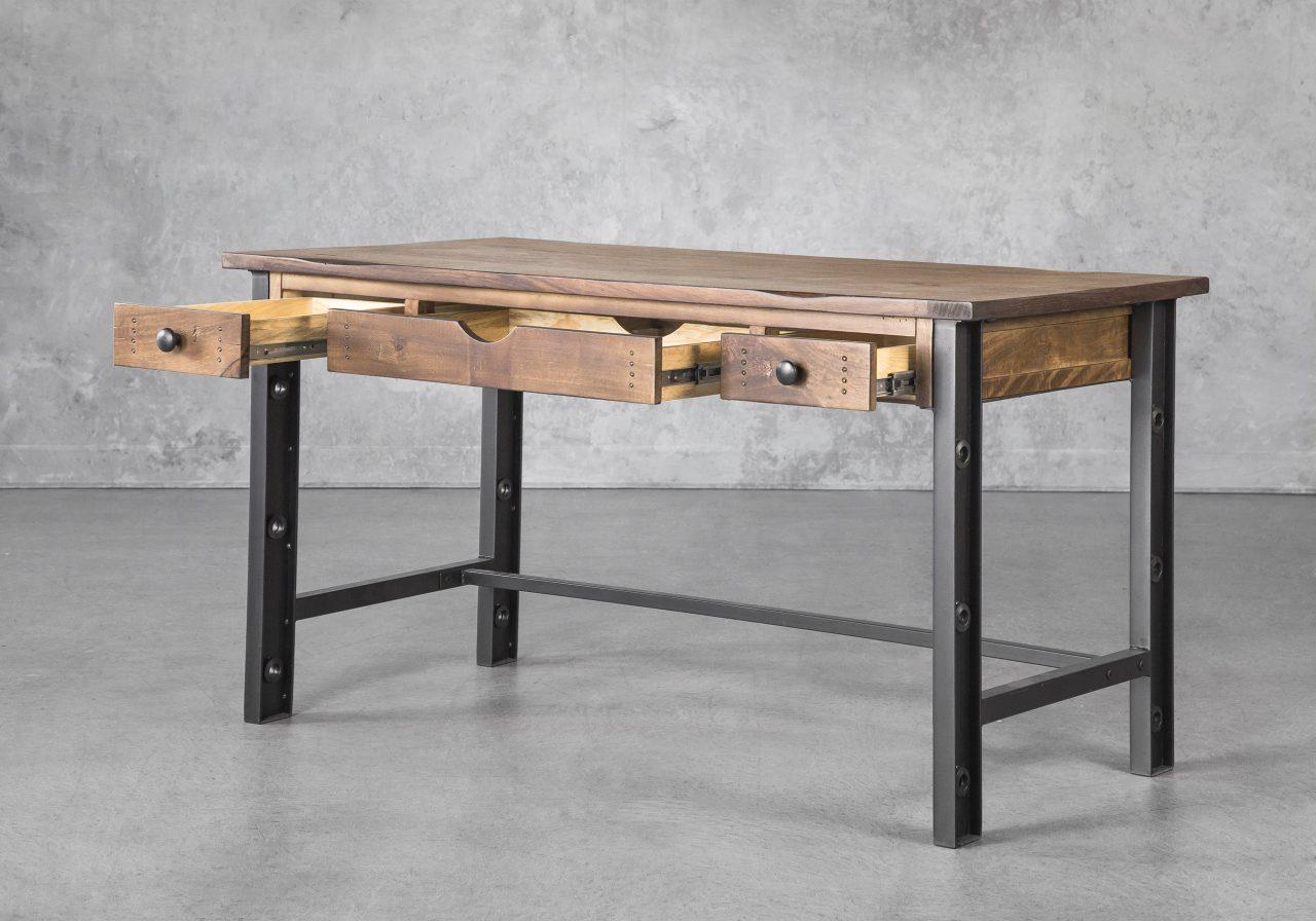 Parota Desk, Angle, Open