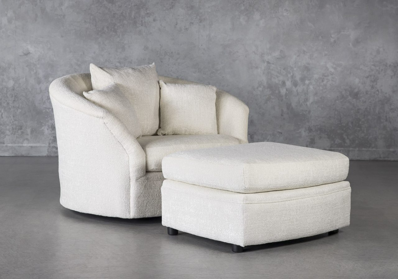Willow Chair with Ottoman, Angle
