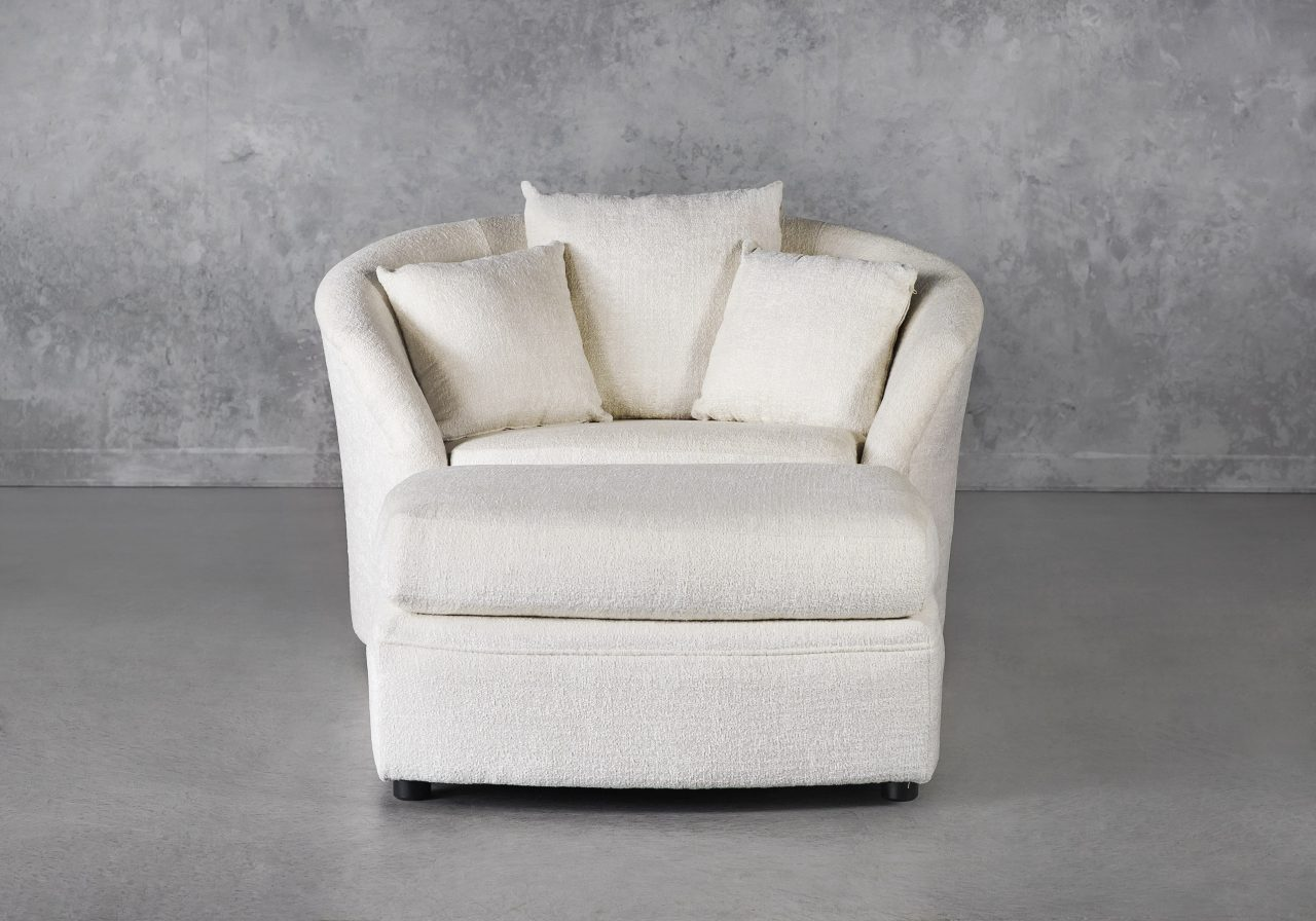 Willow Chair with Ottoman, Front