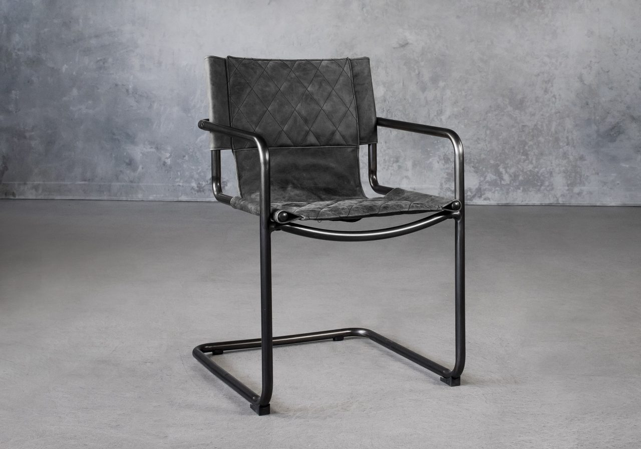 Barry Dining Chair in Ebony, Angle
