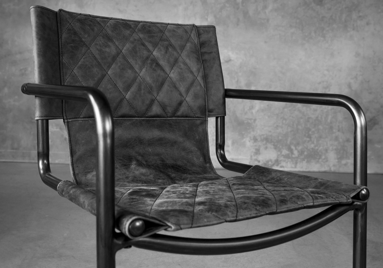 Barry Dining Chair in Ebony, Close Up