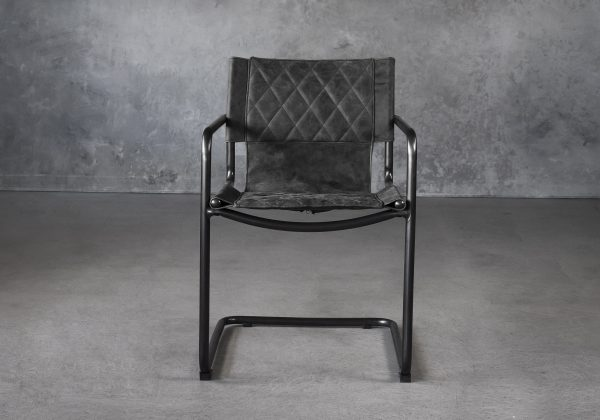 Barry Dining Chair in Ebony, Front