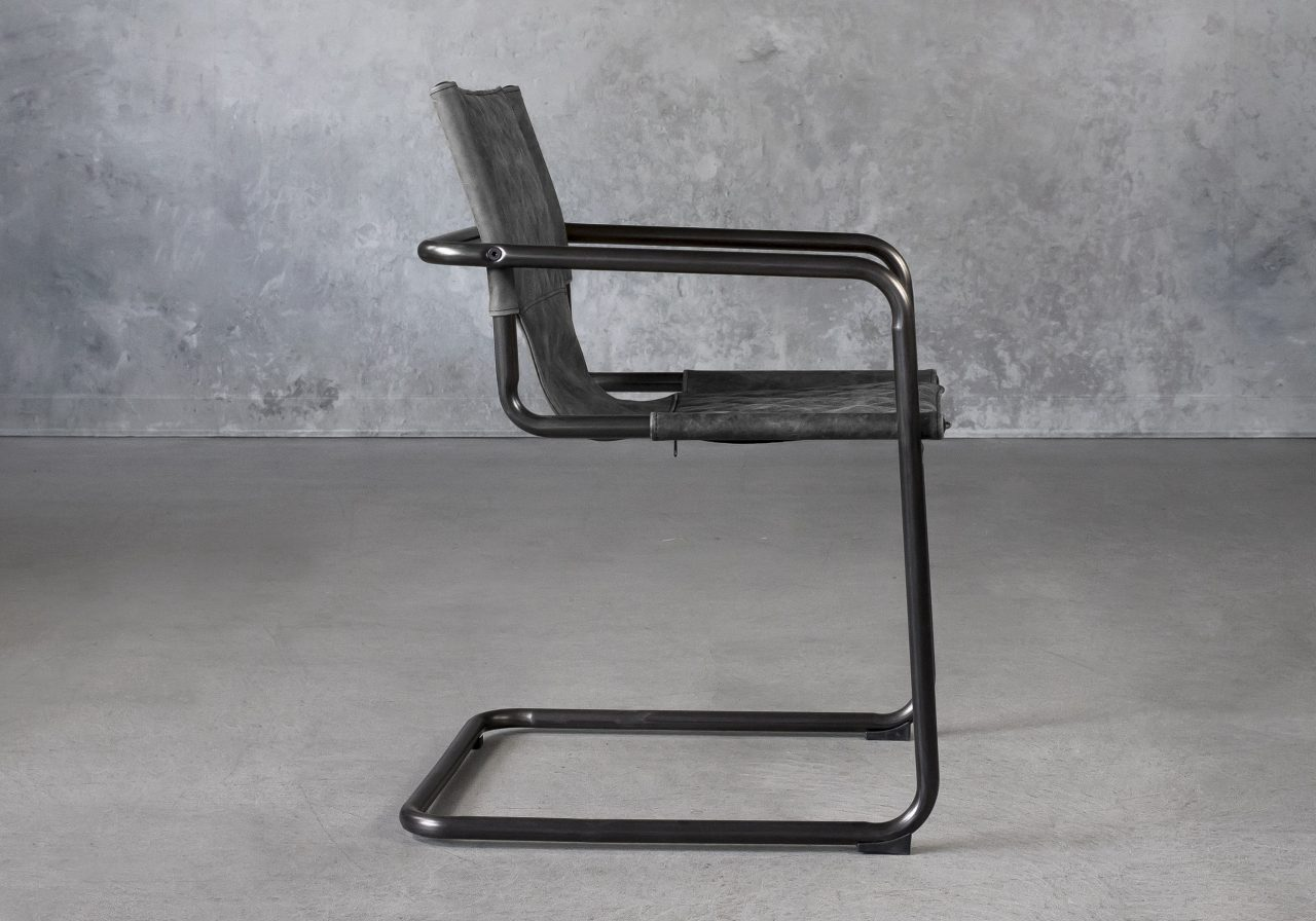 Barry Dining Chair in Ebony, Side