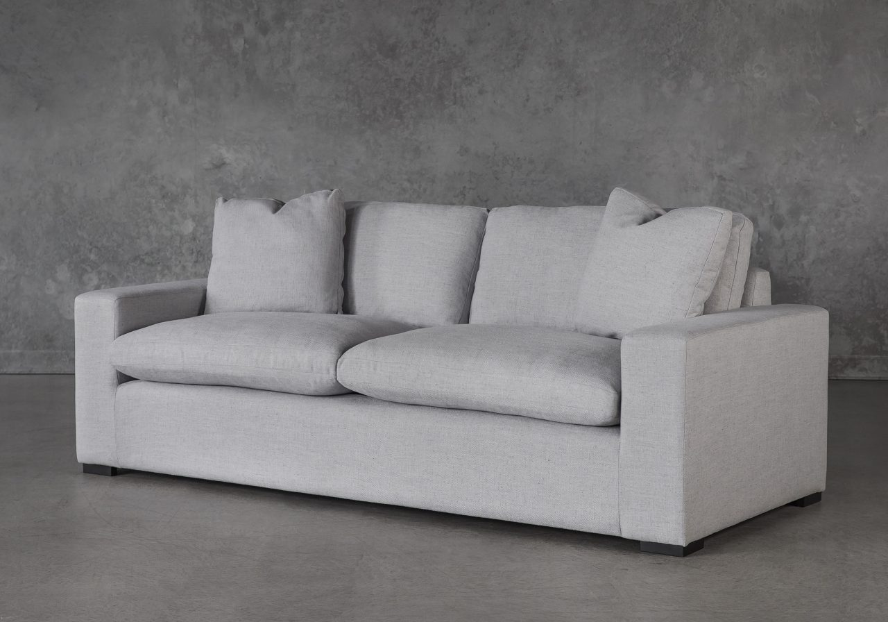 Vermont Loveseat in Grey Fabric, Angle