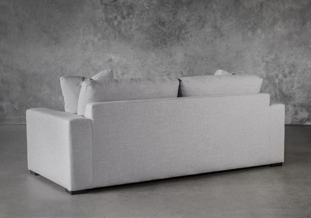 Vermont Loveseat in Grey Fabric, Back