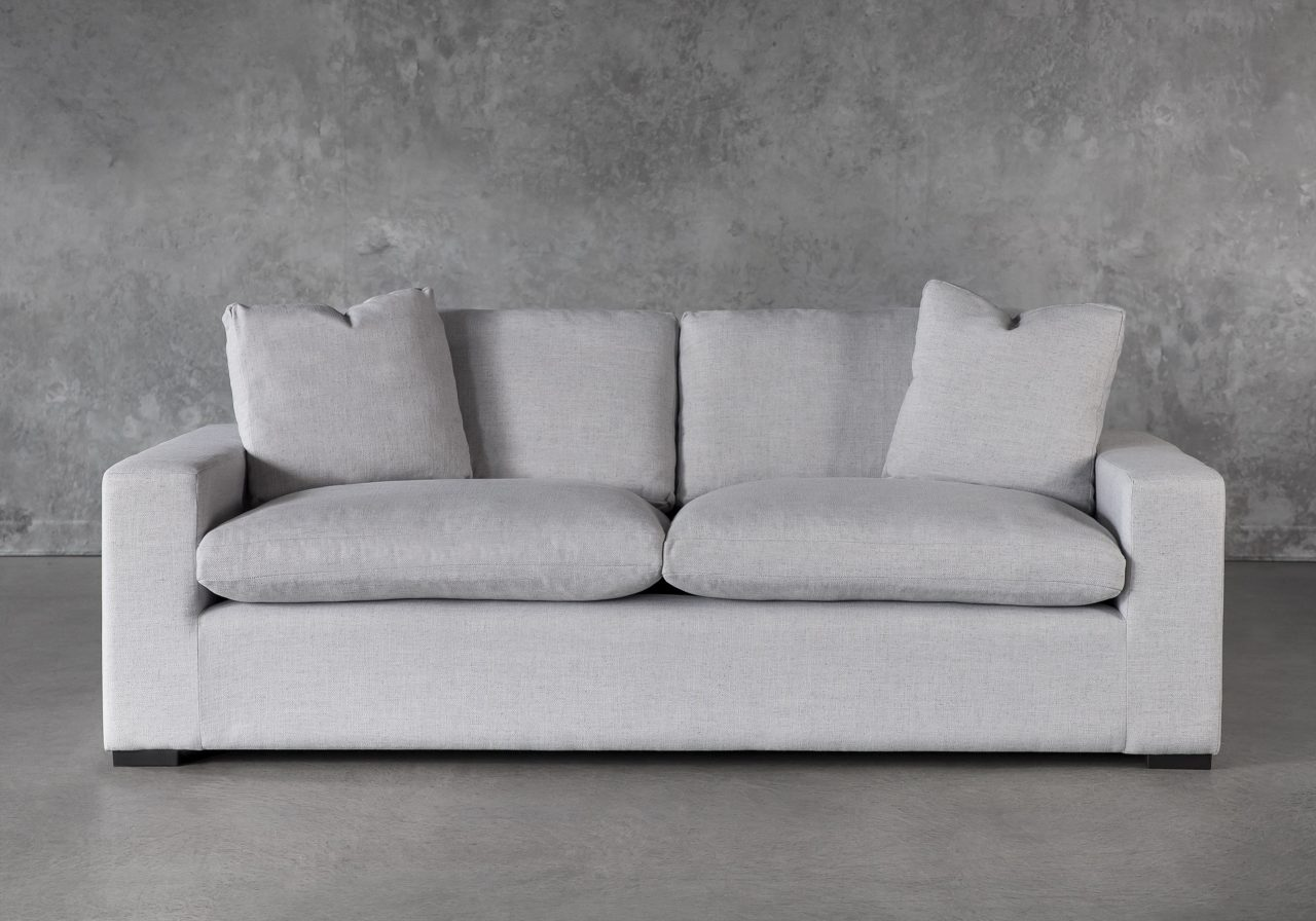 Vermont Loveseat in Grey Fabric, Front