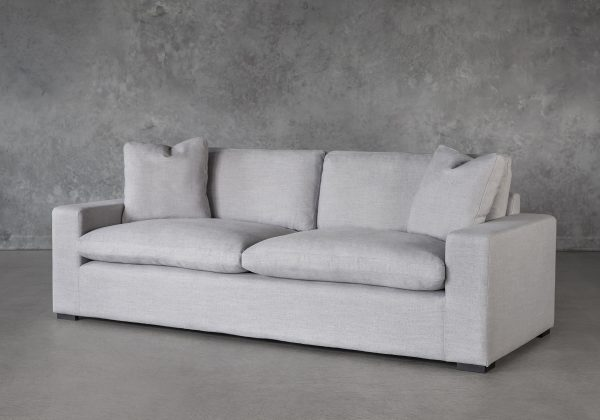 Vermont Sofa in Grey Fabric, Angle