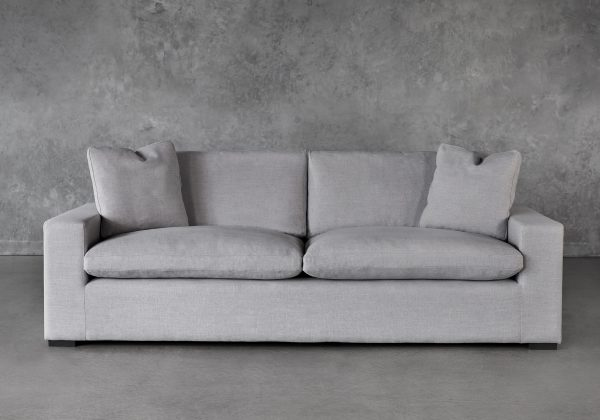 Vermont Sofa in Grey Fabric, Front