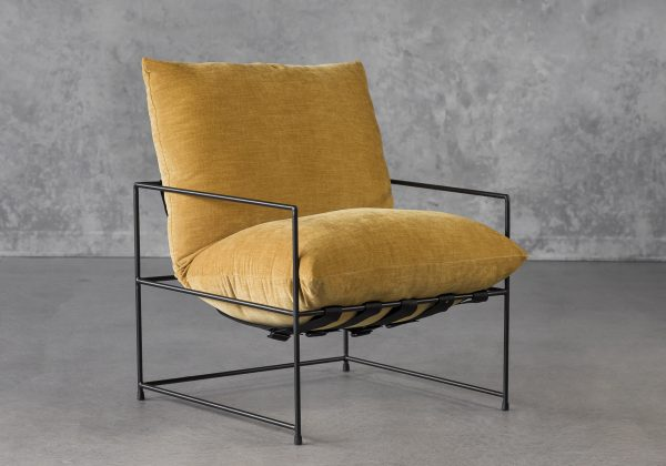 Trento Chair in Ochre, Angle