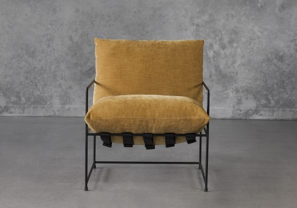 Trento Chair in Ochre, Front