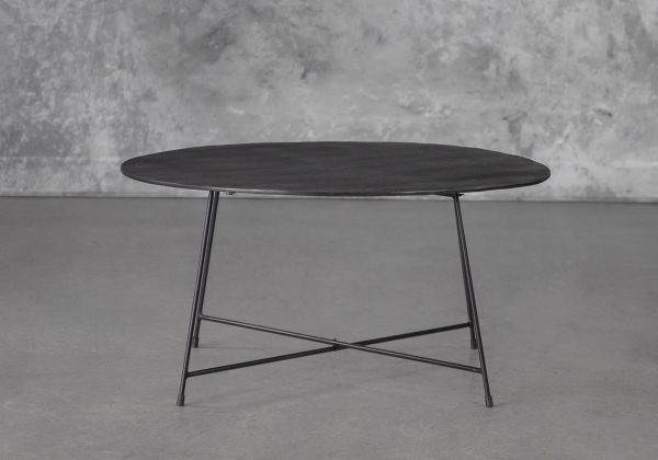 Wave Coffee Table in Bronze, Front