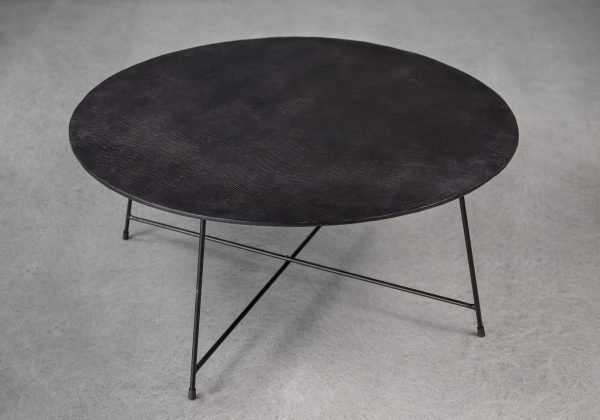 Wave Coffee Table in Bronze, Top, Angle
