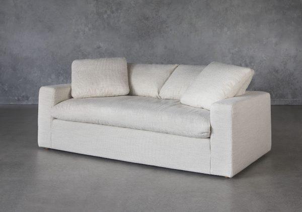 Austin Small Sofa in Pearl, Angle