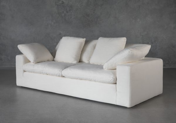 Austin Small Sofa in Alex White, Angle