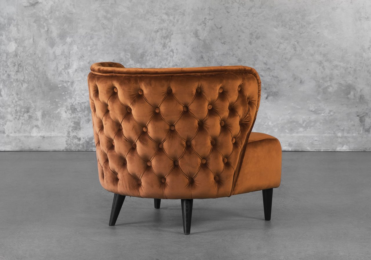 Becky Accent Chair in Copper, Back