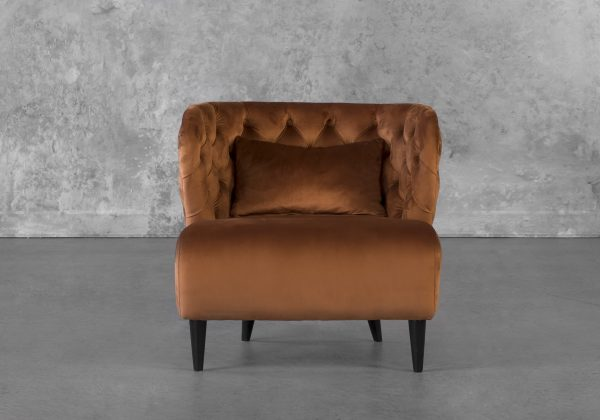 Becky Accent Chair in Copper, Front