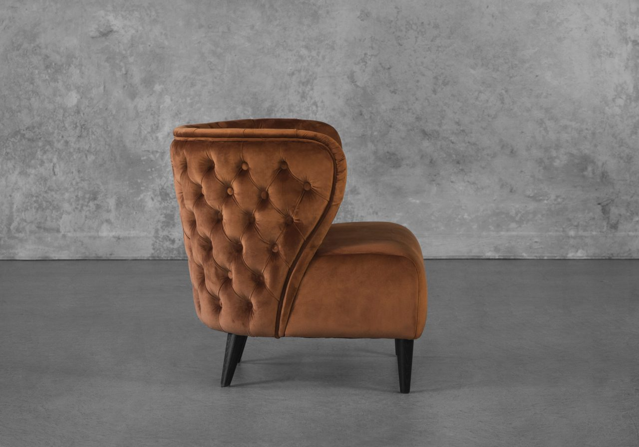 Becky Accent Chair in Copper, Side