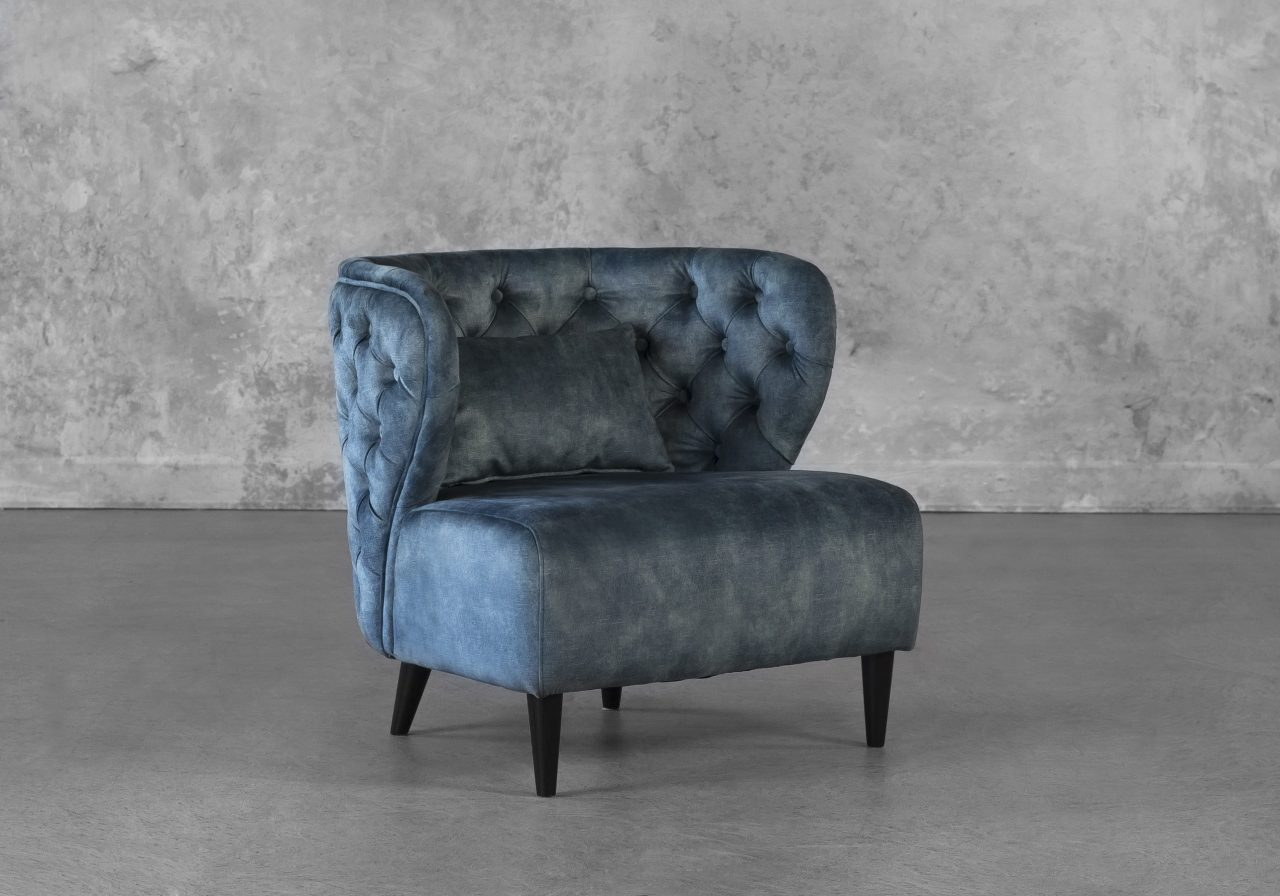 Becky Accent Chair in Teal, Angle