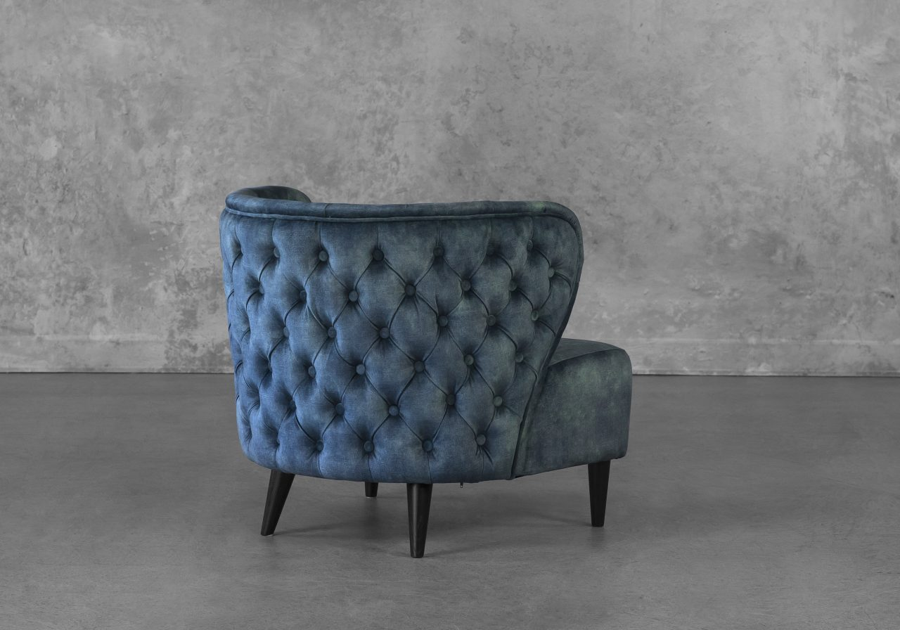 Becky Accent Chair in Teal, Back