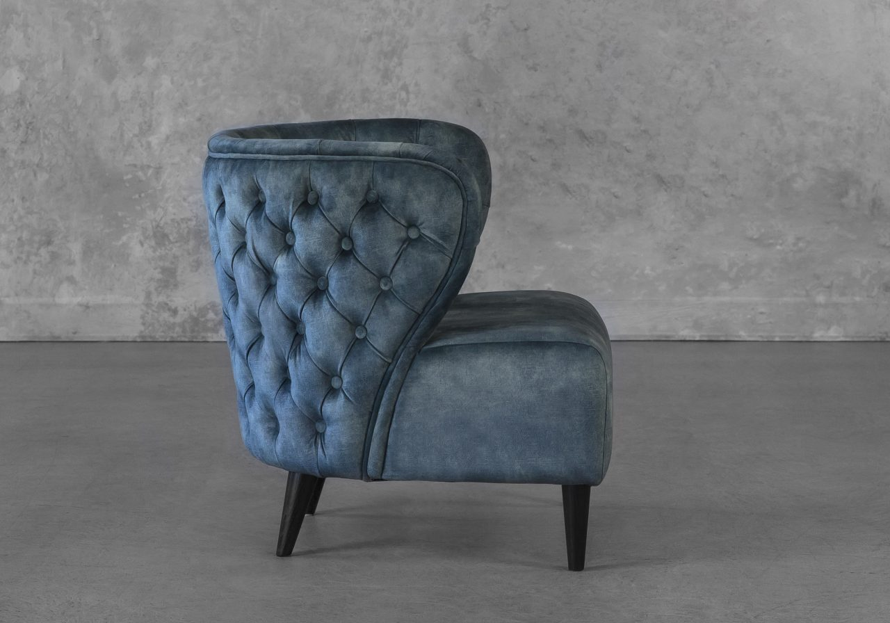 Becky Accent Chair in Teal, Side
