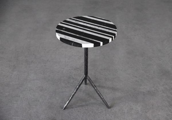 Marble End Table, Top, Angle